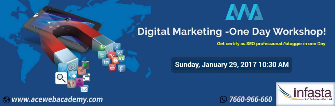 Book Online Tickets for Digital Marketing -One Day Workshop -Get, Hyderabad. Topics:  Intro to digital Marketing Blog Creation How to promote blog/website What is SEO Keyword Research  ABOUT THIS EVENT A workshop on \