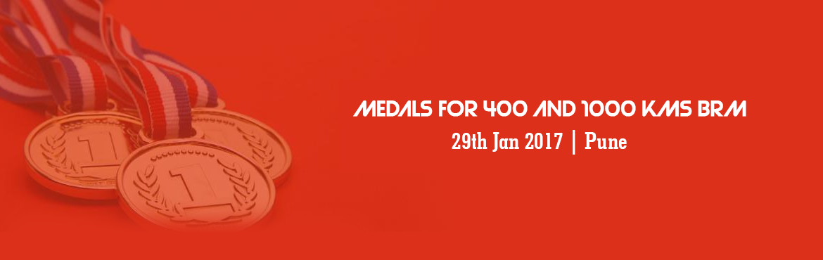 Book Online Tickets for Medals for 400 and 1000 kms BRM - 14 Jan, Pune. Moving on, medal fees will need to be paid online only before deadline.No cash payments will be accepted. If you are unable to do so, then you will get medals (if available) on spot payment during Medal Ceremony