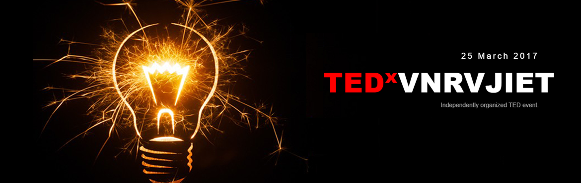 "Book Online Tickets for TEDx-VNR-VJIET, Hyderabad. TEDxVNRVJIET is a local, independently organized TED event in Hyderabad, India, that strives to re-create the unique experience found at TED. At its core, our goal is to promulgate ""ideas worth spreading"". The theme for the event is &lsqu"