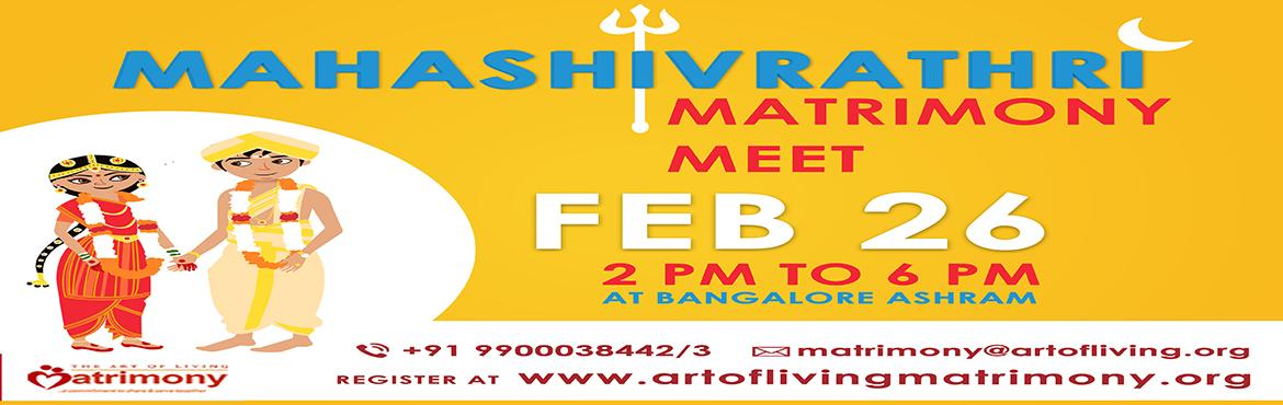 Matrimony Meet - Art of Living International Centre, Bangalore | Open to ALL