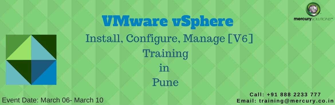 Book Online Tickets for VMware vSphere ICM V6 Training in Pune, Gurugram. VMware being the world leader in imparting knowledge and training of virtualization infrastructure has lately introduced its new VMware vSphere Install, Configure, Manage 6.0 training and certification program that focalizes on installing, confi