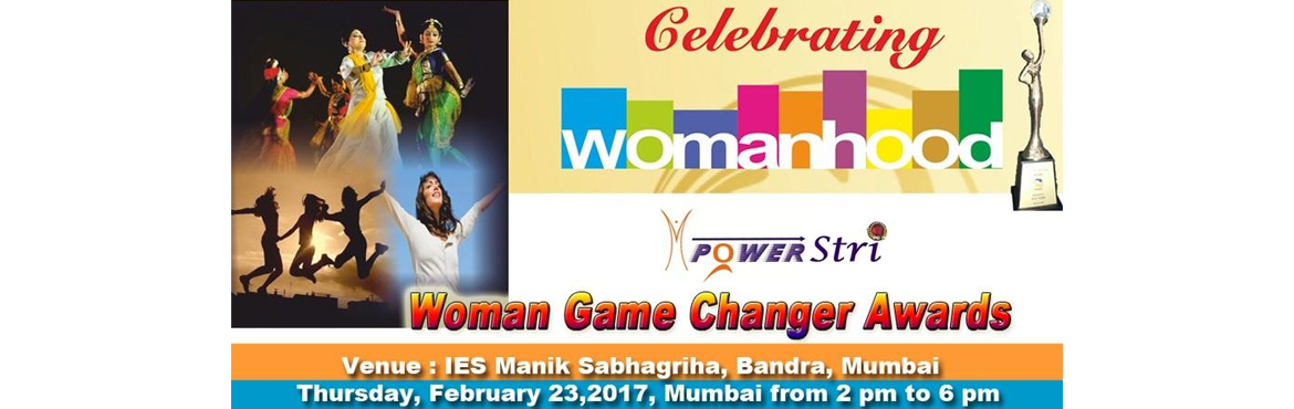 Book Online Tickets for 3rd Woman Game Changer Awards, Mumbai. MPowerStri have instituted the 'Woman Game Changer Awards' since last 2 years to honour noteworthy contributions of women who are visionaries in their sphere of activity and are an inspiration for other women.  The woman game changers who
