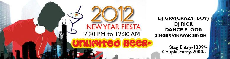 Book Online Tickets for New Year Fiesta 2012, Bengaluru. New Year Fiesta 2012 -Party Harder