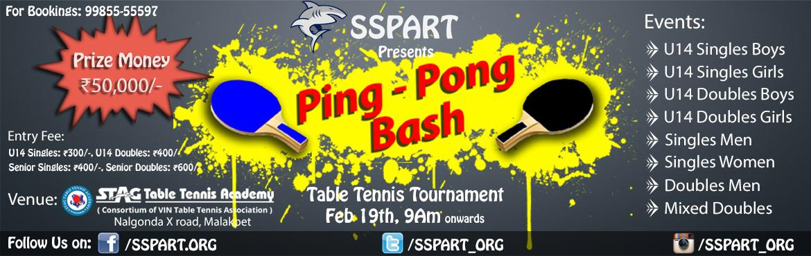 Ping Pong Bash - Table Tennis Tournament