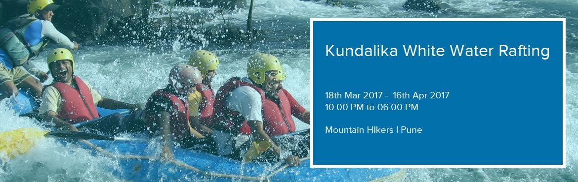 Book Online Tickets for Kundalika White Water Rafting, Pune. Get ready for nature\'s rollercoaster ride that will make you sweat and wet!! Kundalika is one of western India\'s most popular white water rafting spots. This ride has no seat belts, but is sure to have adrenaline rushing through your body.Event dat