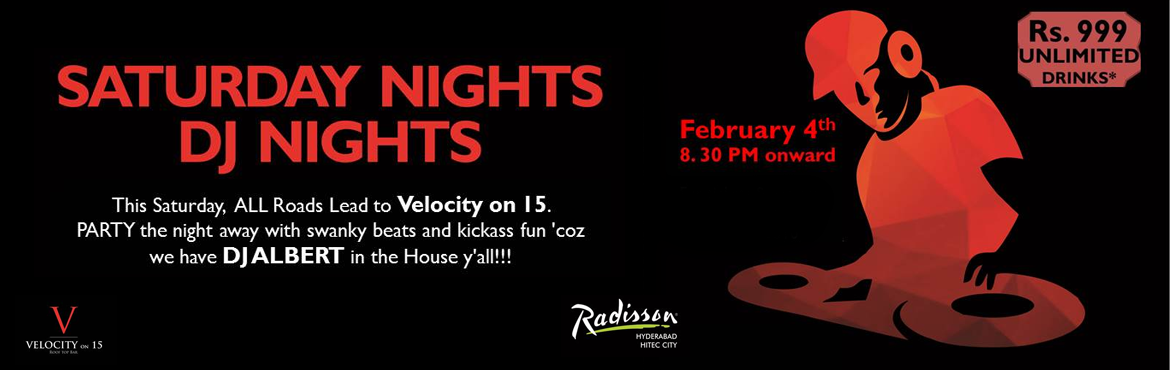 Book Online Tickets for PARTY NIGHT with DJ ALBERT, Hyderabad. This Saturday,  ALL Roads Lead to Velocity on 15. PARTY the night away with swanky beats and kickass fun \'coz we have DJ ALBERT in the House y\'all!!!     And guess what - The LARGEST Group wins a very special Prize!! Entry plus Unlim