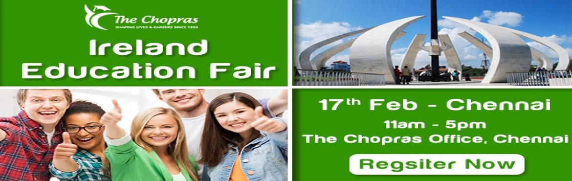 Book Online Tickets for Ireland Education Fair 2017 in Chennai -, Chennai. Ireland, a country well known for its exotic music rich in history and colorful culture has a lot to offer when it comes to about higher education. Packed with globally acclaimed top ranking universities, academic curriculum and state of the art infr