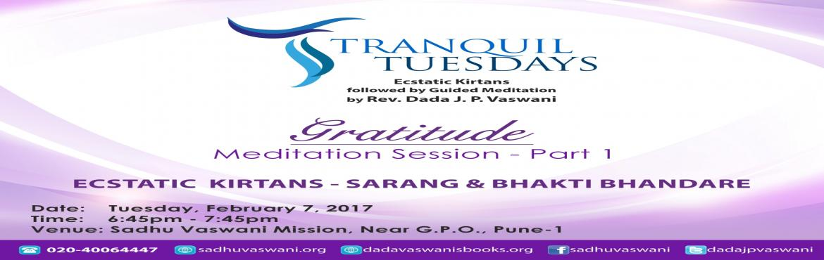 Gratitude at Tranquil Tuesdays - 7th February 2017