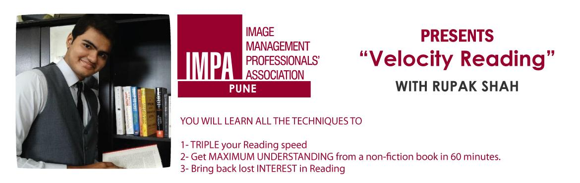 """Book Online Tickets for Velocity Reading with Rupak Shah- Pune, Pune. ABOUT THE SPEAKER Rupak Shah is an avid reader who finishes one book in every two days. Although completing his """"Aircraft Maintenance Engineer"""" course, his passion for training and reading lead him to make a shift in his career. He is a T"""