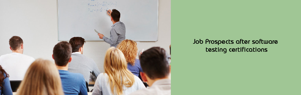 Book Online Tickets for Job Prospects after software testing cer, Pune. Job Prospects – After the completion of this diploma course, students will receive professional certifications. With a Diploma degree in manual software testing, our students can apply for the following Vacancies:   Senior software testing e