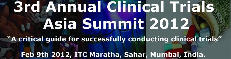 Book Online Tickets for 3rd Annual Clinical Trials Asia Summit 2, Mumbai. Conference Introduction: