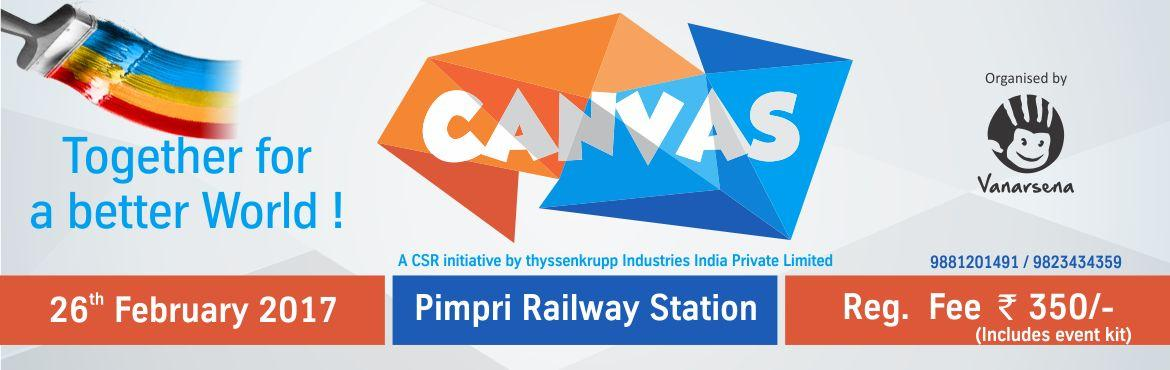Book Online Tickets for Vanarsena Canvas, Pune. \'Canvas\' is an initiative by ThyssenKrupp and organized by Vanarsena. Professional Artists will work in collaboration with people to create the biggest wall graffiti of approx. 11000 sq ft at Pimpri station. Come, be a part of Canvas and experience