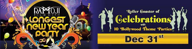 Book Online Tickets for New Year Party @ Ramoji Film City, Hyderabad. 1.  NEW YEAR EVE PACKAGE   New Year Eve Celebrations 31st December 2011  Timing: 2000 Hrs onwards   Cost includes:        Welcome Drink on arrival.       Grand New Year Eve Celebrations