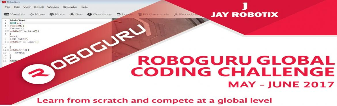 Book Online Tickets for RoboGuru Global Coding Challenge -2017, Hyderabad. Roboguru Global Coding Challenge (RGCC) is an annual online programming contest for the students of any age, to compete against each other, on coding, logical and problem-solving skills. Coding is an essential life skill for the next generation.