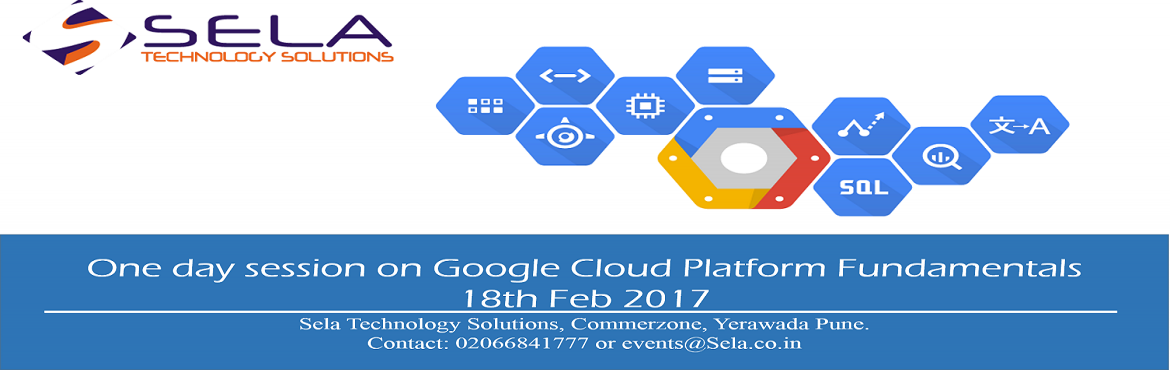 Book Online Tickets for 1 DAY SESSION ON GOOGLE CLOUD PLATFORM -, Pune. Google Cloud Platform Fundamentals (CP100) course will introduce you to Google Cloud Platform products and services. Through instructor-led online classrooms, live demonstrations, you'll learn the value of Google Cloud Platform and how to incor