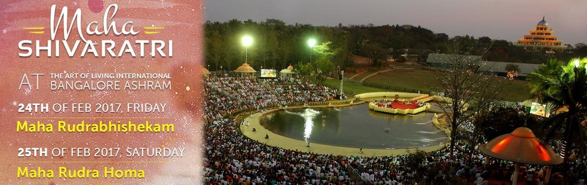 Book Online Tickets for Shivaratri 2017 Triveni Ashram, Markal -, Pune. Mahashivratri is the day when the Shiva Tattva touches the earth. The consciousness, the aura, or the ethereal world, which is always ten inches above the material ground, touches the earth element on the day of Mahashivratri.It is the wedding