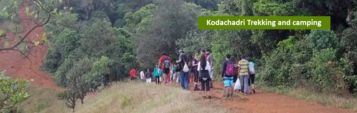 Book Online Tickets for Kodachadri Trekking  and  camping, Valur. Kodachadri is one of the beautiful mountain peak of Karnataka. It is located in the west of shimoga district, with an altitude of about 1343 meters above the sea level. It is also recognized as a natural heritage site by Karnataka government. Literal