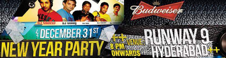 Book Online Tickets for Audio Drive New Year 2011 @ Runway 9, Hyderabad. Audio drive makes its debut in going public. Its enthusiasmknows no heights as it takes its steps towards the end of theyear. Audio drive takes pride in an inherent need to stand outto transport the party goers to where the fun begins. It's now