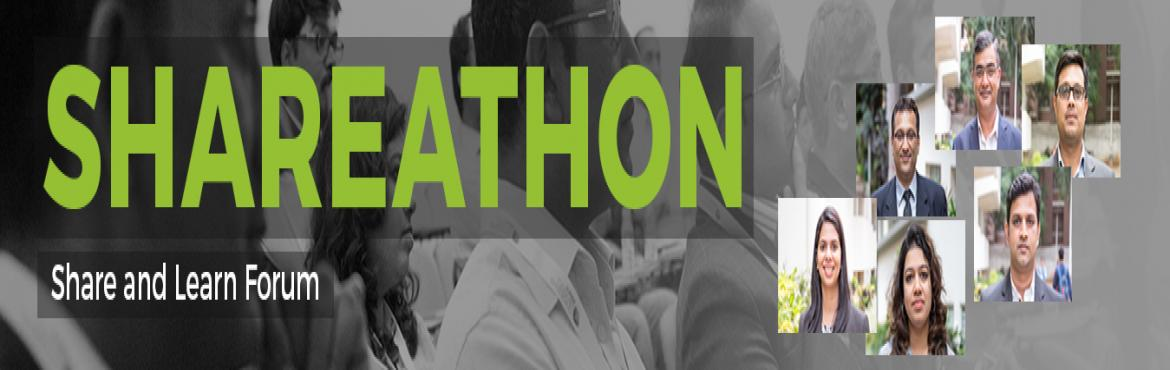 Book Online Tickets for SHAREATHON for Business Leaders, Bengaluru. Launching India's first Shareathon for Business Leaders   IPL is launching the first edition of Shareathon -  a public platform for knowledge sharing. Speakers and topics are chosen solely by popular vote and on February 25, we will c