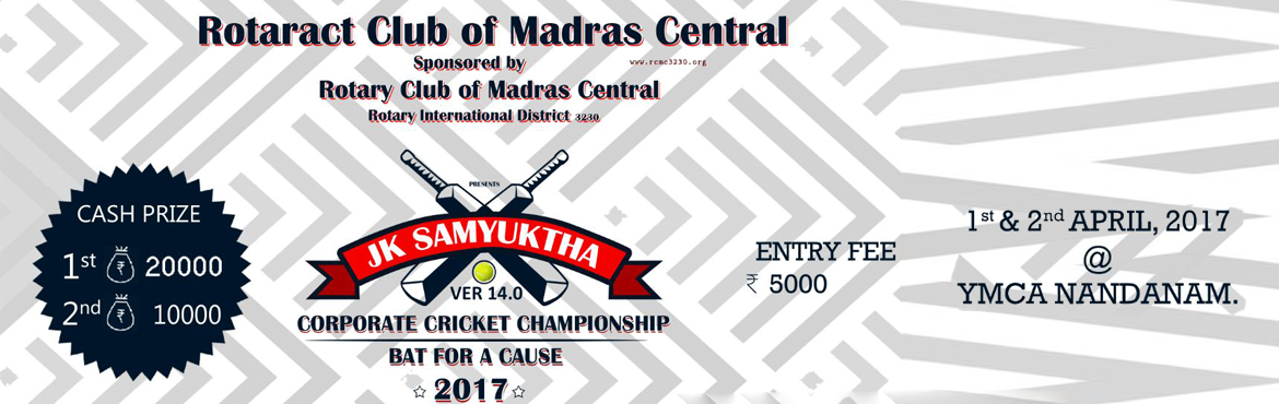 Book Online Tickets for Corporate Cricket Championship, Chennai. o Only 32 teams shall be enrolled on first come first serve basis. o A registration fee of Rs.5000 per team (NonRefundable), Entry Fee has to be paid at the time of registration. o Team entries will close at midnight on 25th March 2017 o Payment shou