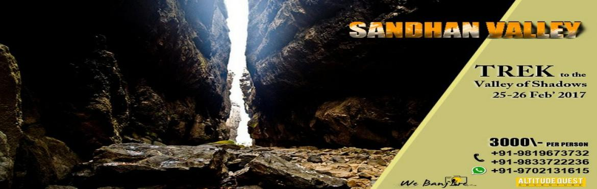 Book Online Tickets for Sandhan Valley Trek - Grand Canyon Of Ma, Mumbai. Sandhan Valley Trek – Grand Canyon Of MaharashtraWe invite you for beautiful and medium level overnight camping trek of Sandhan Valley (Grand Canyon of Maharashtra) with Altitude Quest Adventure & WeBanjare teams on 25th & 26th Feb 2017