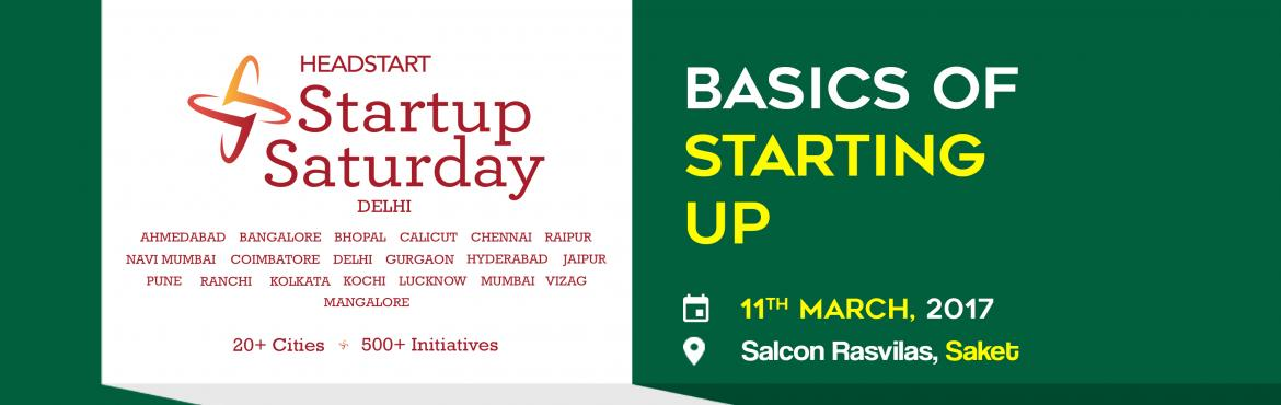 "Book Online Tickets for Basics of Starting Up - Startup Saturday, NewDelhi. Basics of Starting Up Paul Graham(Co-Founder, YCombinator) once said: ""You need three things to create a successful startup: to start with good people, to make something customers actually want, and to spend as little money as possible. Mo"