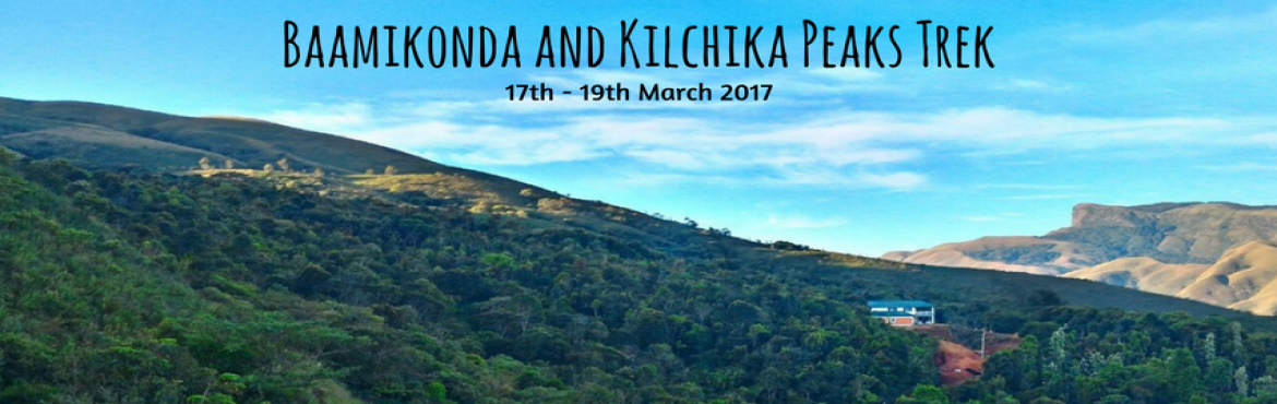 Book Online Tickets for Baamikonda - Kilchika Peaks Trek | Plan , Bengaluru. Baamikonda Kilchiia is one of the most untouched and stunning trails that Bangaloreans can enjoy over the weekend. This trek begins at the foothills of the Mullodi village which is surrounded by soothing waterfalls within a 15 km radius. The most uni