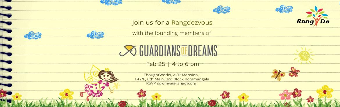 Book Online Tickets for Rangdezvous VIII - Guardians of Dreams, Bengaluru. Doing anything this Saturday? Would you like to meet an NGO that provides children from shelter homes in India with holistic care?   Every three months, Rang De, a peer-to-peer lending platform that helps individuals from low-income communities get o