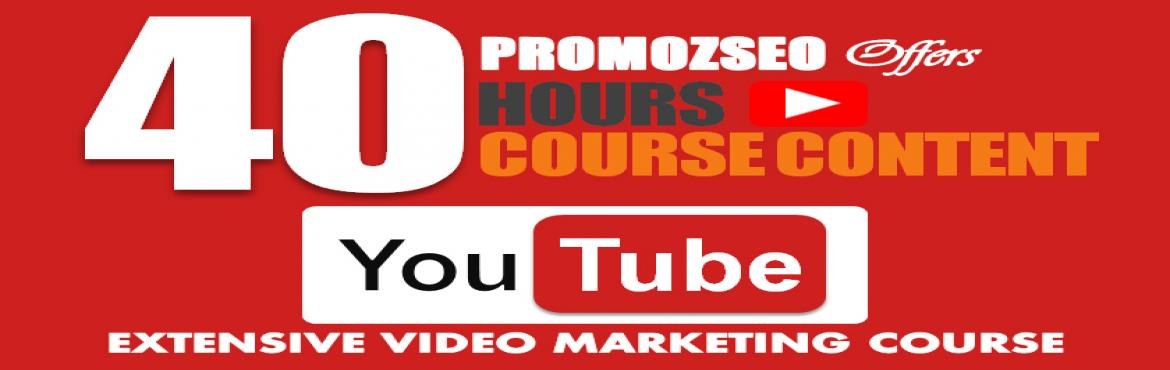 Book Online Tickets for Online YouTube Marketing Course in India, Kolkata. If you want to learn YouTube video marketing and want to work either on YouTube or on Digital Marketing then we at PromozSEO Web Marketing Academy are offering an advanced level YouTube video marketing training program. This is an online paid course