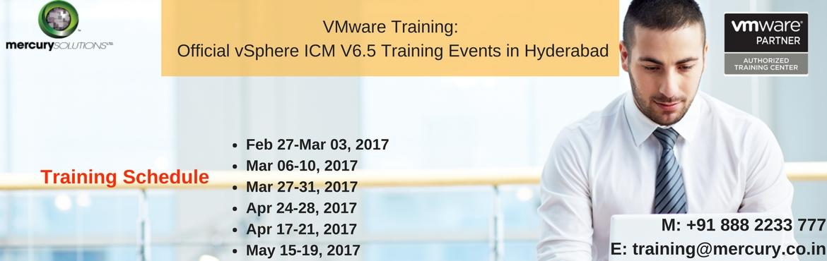 Book Online Tickets for VMware vSphere ICM V6.5 Certification Tr, Hyderabad. VMware vSphere ICM 6.5 training program is the upgraded version of ICM 6.0 that characterize installing, configuring and managing the vSphere 6.5 infrastructure. Having been built on the Software-Defined Data Center (SDDC), the knowledge to