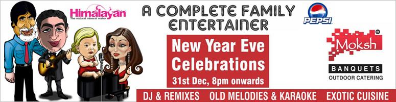 Book Online Tickets for New Year Eve 2012 @Hotel Moksh, Hyderabad.  