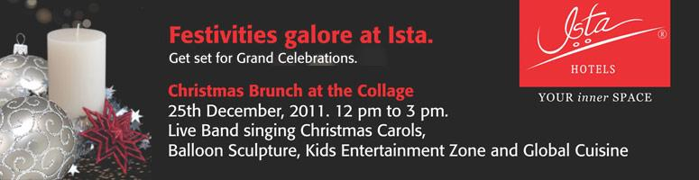 Christmas Brunch at Collage-Ista Hotel on 25th December 2011
