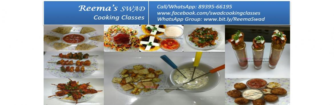 Book Online Tickets for Snacks and Starters Workshop, Chennai. Reema\'s Swad Cooking Classes schedules vegetarian Snacks and Starters Class (20 Items..) The course includes Mexican Quesadillas Mexican Pop Mexican Tacquitos  Mexican Charmula  Mexican Beans Tikki Corn Cheese Balls Spinach Cheese Balls Bruchetta  C