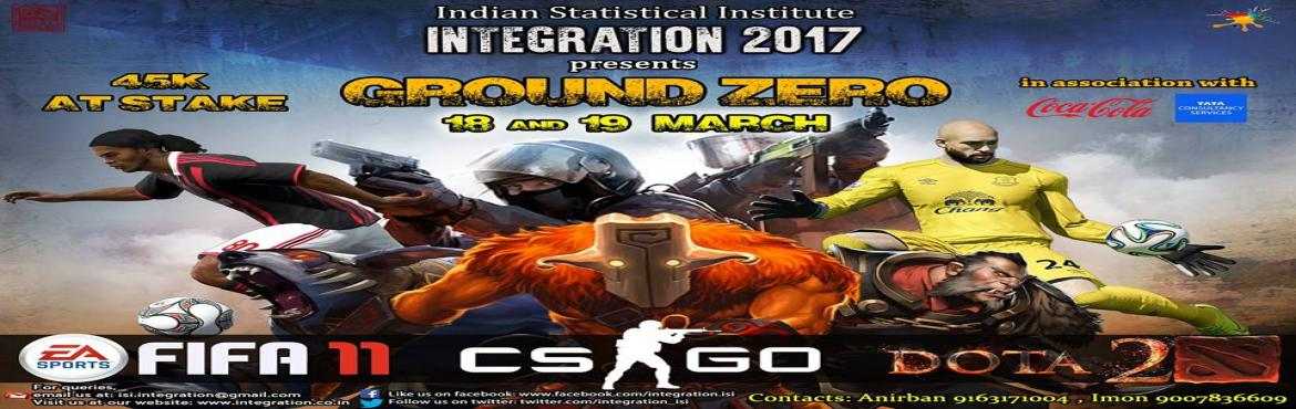 Book Online Tickets for Ground Zero (Gaming Competition), Kolkata. Integration, the annual techno-cultural sports fest of ISI Kolkata, presents GROUND ZERO \'17 where the gamers will get an amazing opportunity to spend their weekend with Counter Strike Global Offensive, DOTA 2 and FIFA 11. With great prizes at