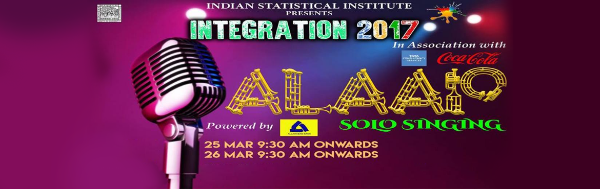 Book Online Tickets for Alaap (Solo Singing Competition), Kolkata. Indian Statistical Institute, Kolkata presents one of the greatest singing competitions of the city giving an opportunity to showcase your talents.The competition shall be held in two rounds: prelims and final. IMPORTANT DATES : PRELIMS: 25