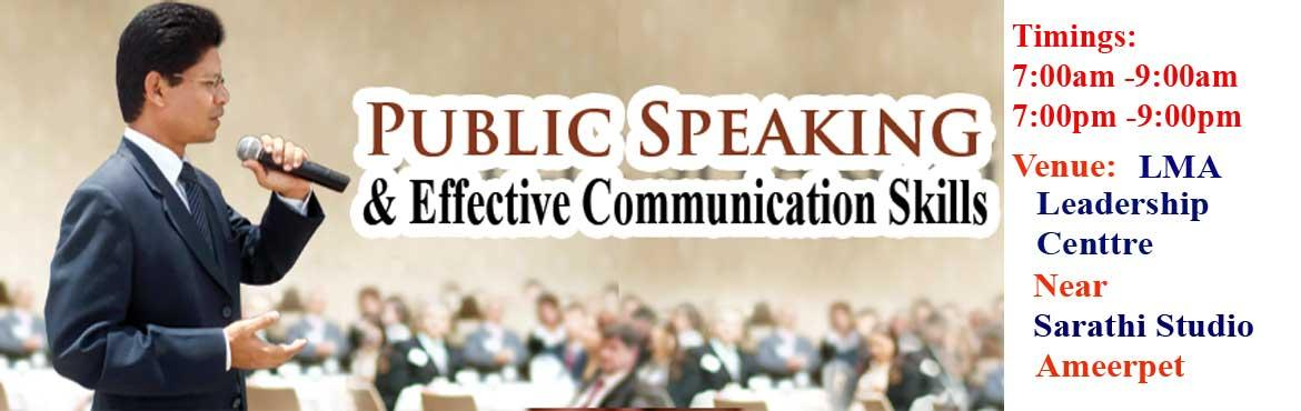 Public Speaking and Effective Communication skills