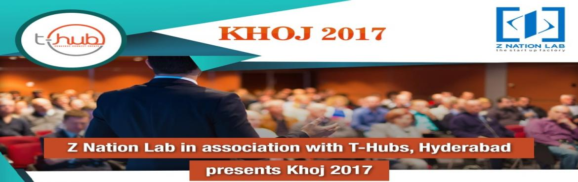 Book Online Tickets for Khoj 2017, Hyderabad, Hyderabad. A perfect opportunity for new-age entrepreneurs to make a global footprint. At Khoj 2017, Hyderabad, showcase your startup idea, network and have one to one interaction with VC\'s, Angel Investor and Industry Experts. Register Now: https://