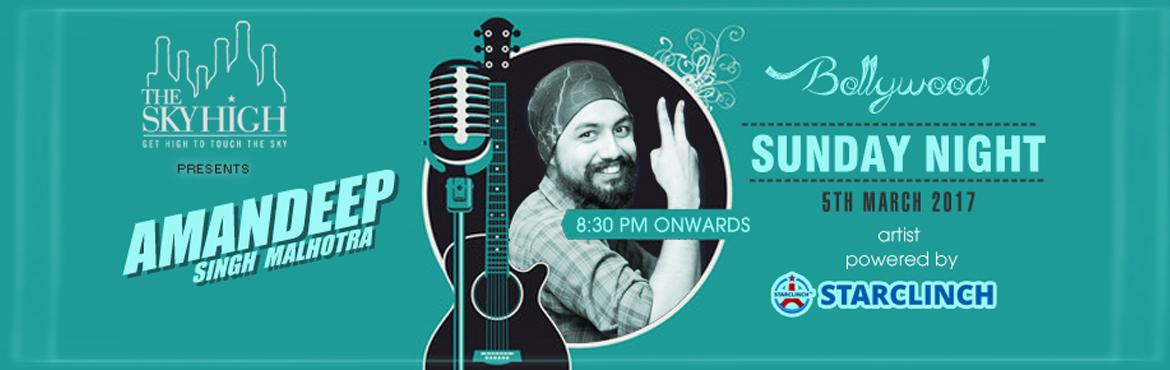 Book Online Tickets for Amandeep Singh Malhotra Live at The Sky , NewDelhi. Amandeep Singh Malhotra is a professional singer based out of the capital city of India, New Delhi. His genres are Bollywood and Sufi. He is performing LIVE for the last one year.