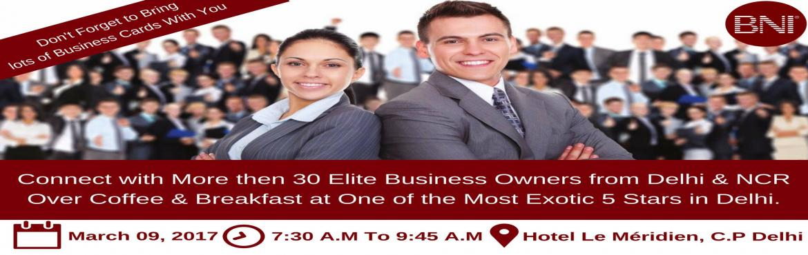 Book Online Tickets for BNI Mavericks Grand Visitors Day, NewDelhi. Are You a Business Owner? If, Yes then there is a Great Opportunity for You to Grow your Network & size of Your Business Operations.   By Just being a part of our Upcoming Visitors Day Meeting Where you can Connect with 30+ Elite Business Owners