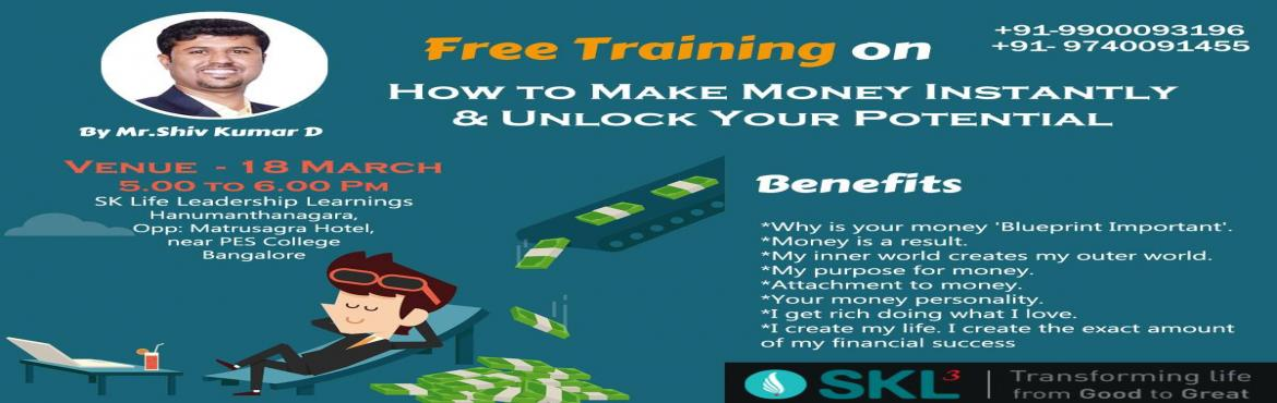 Free Training on Identifying Your Potential and Making Money Instantly