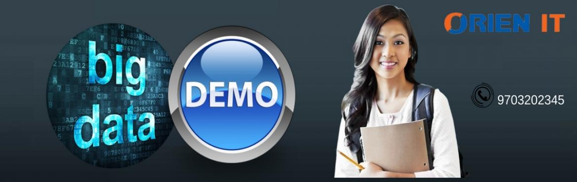 We provide Hadoop Demo on Every Sunday at 10 AM. Register for Demo Now or Call Now :9703202345