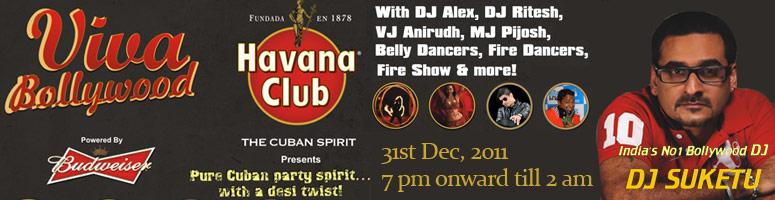 VIVA BOLLYWOOD 2012 with DJ SUKETU at Bangalore on 31st December 2011