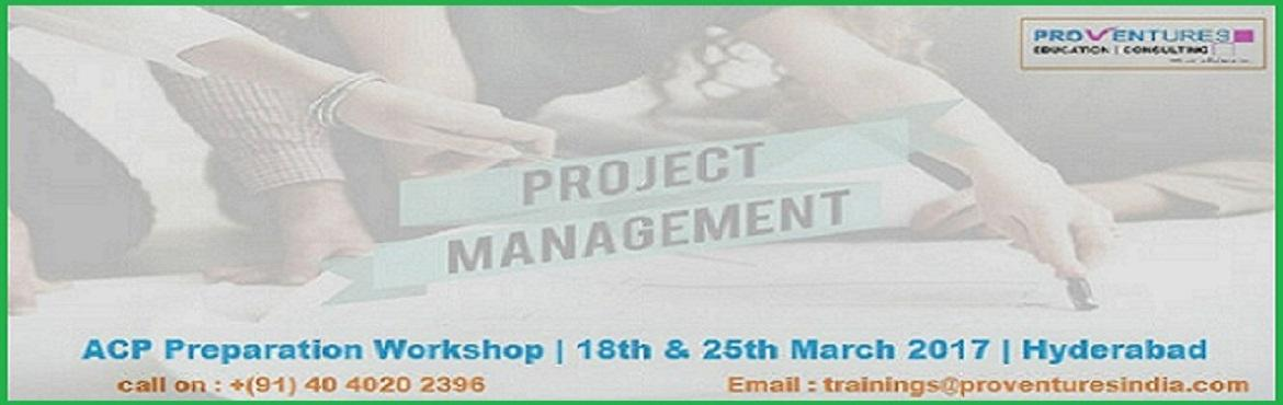 Book Online Tickets for PMI ACP WorkShop in Hyderabad Madhapur -, Hyderabad. Agile is the future of project management. Many companies are adopting agile methodologies to increase team performance and improve customer satisfaction. The Agile Certified Practitioner (ACP) is the newest certification offered by PMI and is expect