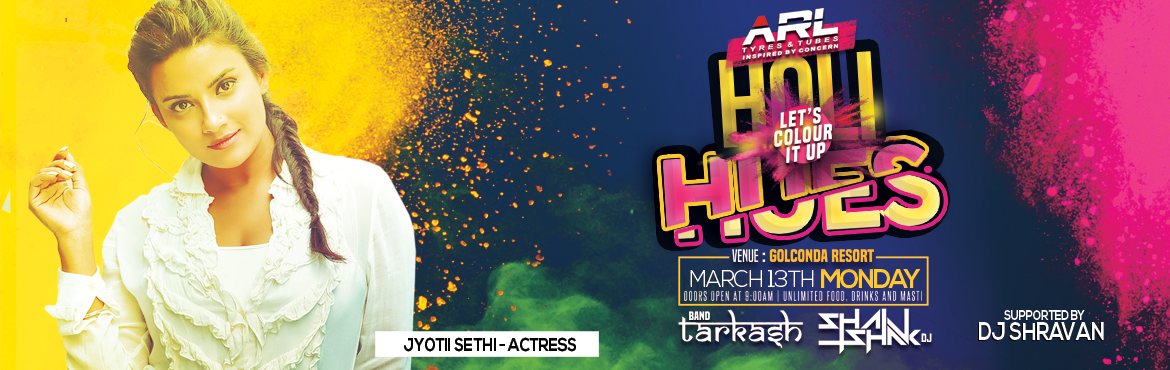 Book Online Tickets for Holi Hues - Holi Party at The Golkonda R, Hyderabad. Holi Hues will be the towns most happening and biggest holi bash at Golkonda resorts which is one of the best resorts in Hyderabad Artist Info -   Band tarkash  DJ Shashank Kakum  DJ Shravan