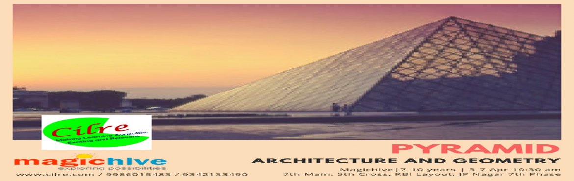 Book Online Tickets for Pyramid, Bengaluru.  Pyramid is a workshop that focuses on the geometry of architecture. Children will build and explore some geometries that are used commonly in constructions like pyramids, domes and arches. They will also explore how geometry is used for designi