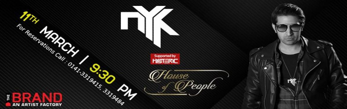 Book Online Tickets for DJ NYK Live at House Of People, Jaipur.   DJ NYK, one of India's top notch DJ is coming to the Pink City and how!The 'King Of Remixes' is known worldwide for making the crowd go wild with his overpowering amalgamation of Bollywood Hits and Electronic Dance Music and