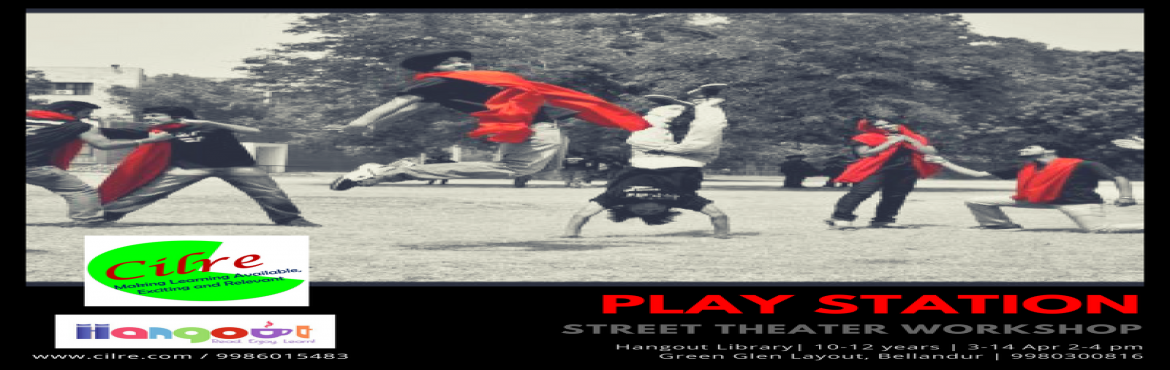 Book Online Tickets for Playstation, Bengaluru. Street theater may be a simple art form, but the skills required are in no way simple. They are typically used as a form to communicate a message to a communicate but in a powerful way. In this workshop, children will explore the skills needed specif