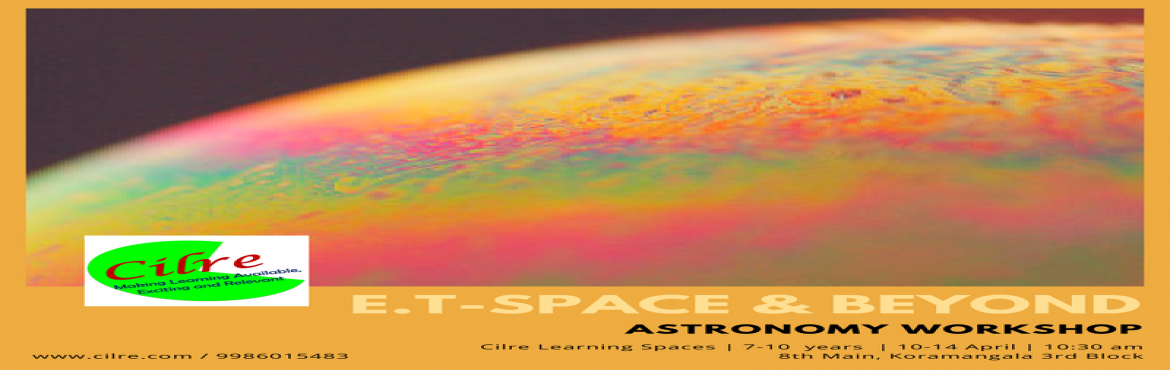 Book Online Tickets for E.T. - Space and Beyond, Bengaluru. E.T. - Space & Beyond explores the universe. Children find out about what are some questions that still remain a mystery and come up their versions of solutions. They will also learn about the latest advancements, tools and lot more exciting stuf