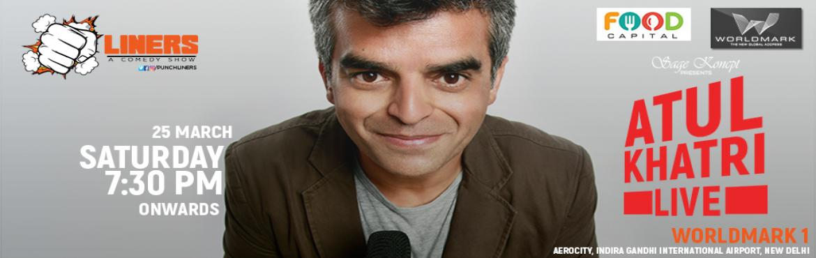 Book Online Tickets for Punchliners: Stand Up Comedy Show feat. , NewDelhi. Atul Khatri is a 40+ guy - we\'re talking about his age not IQ. A Mumbai-based businessman who got up late in life and decided to do English stand-up comedy so that he could tick it off his own bucket list. He is an Indian computer engineer and a Bri