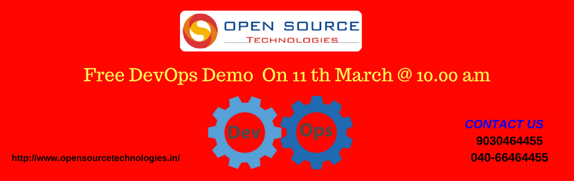 Attend Free DevOps Demo on Careers At Our Open Source Technologies Scheduled On 11th March At 10 AM